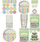 Pastel Baby Shower Dots Unisex Tableware & Decorations - Choose Required Item