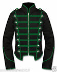 Men's Handmade Green Black Military Marching Band Drummer Jacket New Style