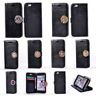 For Huawei Lenovo Coin Moneda Wallet Flip PU Leather+Soft TPU Case Cover - Black