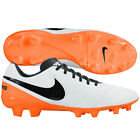 Nike Tiempo Mystic V FG Soccer SHOES 2016 Brand New White /Orange / Black