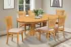 "42""X78"" DINETTE DINING SET WITH MICROFIBER UPHOLSTERED SEAT IN  OAK"