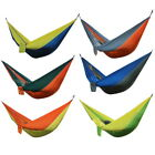 Portable Hammock Outdoor Swing Camping Travel Leisure Hanging Nylon Bed 2 Person