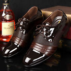 Business Men's Casual Pantent Leather Shoes Pointed Toe Bridegroom Wedding Shoes