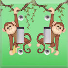 Monkey Twins~Light Switch Plate Cover~ Home Decor~ Kids Room Decor~