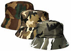 Men's Bucket Style Sun Hat Camouflage Design Cotton Summer Holiday Bush Cap New