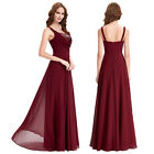 KK Sexy Long Ball Gown Evening Prom Party Dress Formal Sequins Chiffon A-Line