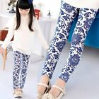 Kids Toddler Girls Leggings Pants Vintage Floral Printed Trousers Size 3-7Y
