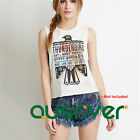 Brand New Sleeveless Graphic T-shirt Summer Sexy Cotton Cami Women's Tank Top