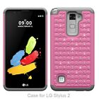 Crystal Rugged Rubber Dual Layer Hybrid combo Case For LG G Stylo 2/ K4/ K10/ G5