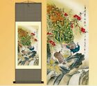Chinese Silk Scroll Paintin Peacock Crane Mandarin duck Home Decoration Various
