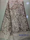 GORGEOUS TULLE SEQUINS FLORAL EMBROIDERED BRIDAL DRESS LACE FABRIC  5YDS LOT