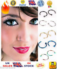 ☆NEW☆ Small Tiny Surgical Steel Open Nose Hoop Ring 6mm 8mm 10mm Tragus Piercing