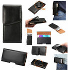 Black Leather Clip Case Waist Rotating Holster For iPhone 6s Plus/Galaxy Note 7