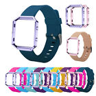 Silicone Watch Band Wrist Strap + Metal Frame For Fitbit Blaze Activity Tracker