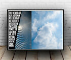 Christian Inspirational Poster - Thessalonians 4:17 Rejoice Joy Clouds ALL SIZES