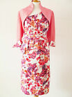 25541 JOHN CHARLES FLORAL MOTHER OF BRIDE OUTFIT & MATCHING HAT RRP £924 SAVE ££