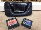 Sega game gear Lcd Faulty stripey Bundle Two Games Included