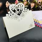 50PCS Pink Lace Heart Flowers Place Cards Invitation Card For Weddings Party