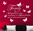 WALL QUOTES WALL ART DECAL STICKERS Family Wall Quote Stickers  WALL STICKER N99