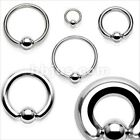 1 PIECE 316L Surgical Steel Captive Bead Ring Ear Septum PA Gauges