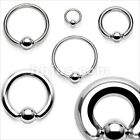 1 PIECE 316L Surgical Steel Captive Bead Ring Ear Septum PA Gauges Free USA Ship image