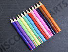 12PACK CHILDRENS MINI HALF LENGTH COLOURING PENCILS PARTY BAG FILLER FOR SCHOOLS