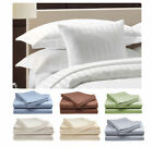 """New Scala Bedding 1000TC 1PC Fitted Sheet Stripe 100%Cotton 8"""" Extra Deep Pocket"""