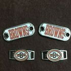 2 ~ Cleveland Browns NFL Paracord Charms Oval or Mini Dog Tag shoelace charms $7.5 USD on eBay