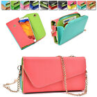 Ladie's PU Leather Wallet Case Cover & Crossbody Clutch for Smart-Phones XLUB11