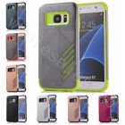 For Samsung Galaxy Case Two In One Hybrid Hard Rigid Plastic & TPU Rubber Covers