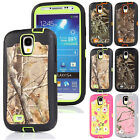 Realtree Camo ShockProof Defender Rubber Hard Case Cover For Samsung Galaxy S4