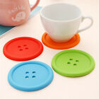 Button Coasters Silicone Placemat Cushion Mug Tableware Cup Tea Cup Pad Mat