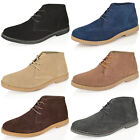 MENS BOYS REAL LEATHER SUEDE ANKLE CHUKKA DESERT BOOTS CASUAL  LACE UP SHOE SIZE