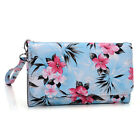 Womens Flower Pattern Wallet Case Cover for Smart Cell Phones by KroO ESMLF-1