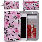 Womens Flower Pattern Wallet Case Cover for Smart Cell Phones by KroO ESMLF-28