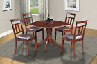 "42"" ROUND TABLE DINETTE KITCHEN DINING ROOM SET W/. LEAF IN MAHOGANY"