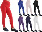 Ladies Maternity Leggings Full Ankle Length Stretchy Over Bump Pregnancy Pants