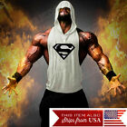 Внешний вид - Hoodie Superman Tank Stringer Golds Men Bodybuilding Gym Muscle FAST SHIPPING