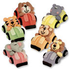 Edible Sugar 3D Jungle Animals in Cars Cupcake Toppers / Edible Cake Decoration