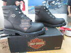NEW Harley Davidson Womens Leather Boots Shoes Medium Black Irma