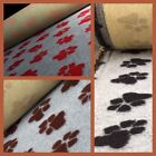 NON SLIP VET BEDDING WITH GIANT SINGLE PAW 3 DIFFERENT COLOUR WAYS