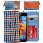 KroO ECMT14 Houndstooth Protective Wallet Case Clutch Cover for Smart-Phones