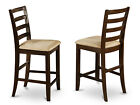 Set of 2 Fairwinds Stool Microfiber with ladder back in Cappuccino Finish