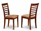 Set of 2 Milan Kitchen Chair - Mahogany Finish