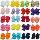 "6"" Large Baby Girls Hair Bows Clips Childrens Grosgrain Ribbon Hairbow Hair Bow"