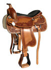"Western Horse Saddle Brown Leather ""Scout"" 16"" or 17"" seat, 6"" or 7"" gullet"