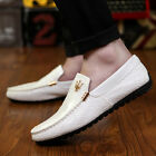 New shoes men slip-on casual leather boats platform breathable moccasins