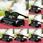 New Mens Womens Fashion Vintage Retro Classic Round Sunglasses Gold Black Shades