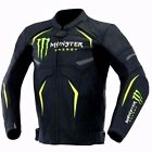 MONSTER ENERGY LEATHER MOTORCYCLE JACKET WITH HIGH QUALITY PURE LEATHER