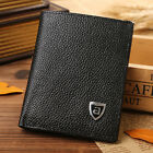 Mens Genuine Leather Bifold Wallet Cowhide Small Card/ID Holder Mini Slim Purse